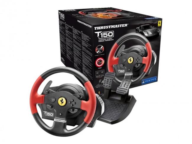 thrustmaster volante t150 ferrari edition 4160630 thrustmaster controladores de juegos. Black Bedroom Furniture Sets. Home Design Ideas