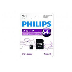 MICRO SD 64GB + ADAPTADOR FM64MP45B/10 PHILIPS