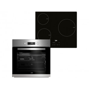 HORNO MULTIFUNCION + PLACA DE INDUCCION BEKO BSE22341X