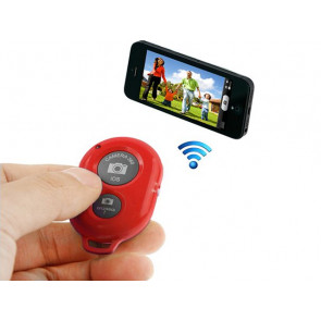 DISPARADOR DE FOTOS BLUETOOTH ROJO UNOTEC