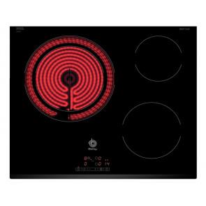 PLACA VITROCERAMICA BALAY 3EB715LR 60CM 3 ZONAS DE COCCION MARCO BISELADO DELANTERO