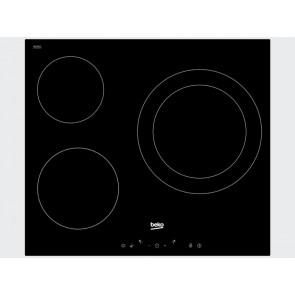 PLACA VITROCERAMICA BEKO HIC-63401T 60CM 3 ZONAS DE COCCION SIN MARCO