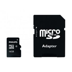 MICRO SD 16GB + ADAPTADOR FM16MP45B/10 PHILIPS