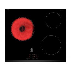 PLACA VITROCERAMICA BALAY 3EB714LR 60CM 3 ZONAS DE COCCION MARCO BISELADO DELANTERO