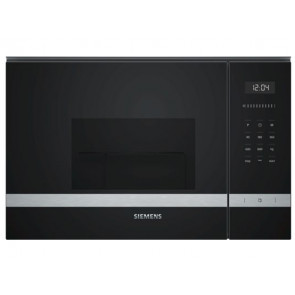 MICROONDAS INTEGRABLE SIEMENS 20L NEGRO/INOX CON GRILL BE525LMS0